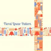 Floral linear pattern