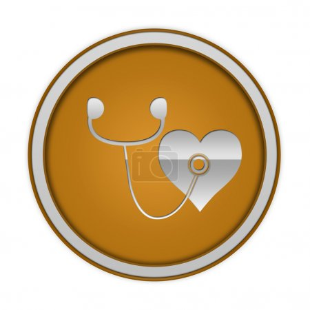 Heart circular icon on white background
