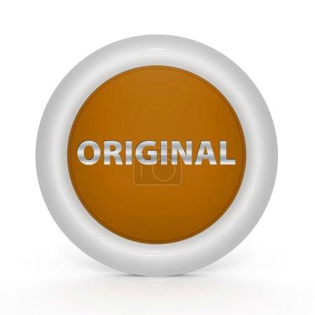 Original circular icon on white background...
