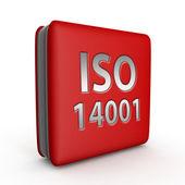 ISO 14001 čtvercovou ikonu na bílém pozadí
