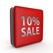 Prodej deset procent čtvercovou ikonu na bílém pozadí