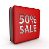 Prodej padesát procent čtvercovou ikonu na bílém pozadí