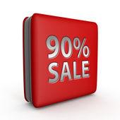 Prodej devadesát procent čtvercovou ikonu na bílém pozadí