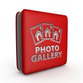 Foto galerie čtvercovou ikonu na bílém pozadí