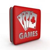 Hry čtvercové ikony na bílém pozadí