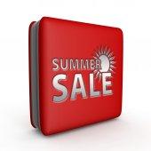 Letní prodej čtvercovou ikonu na bílém pozadí