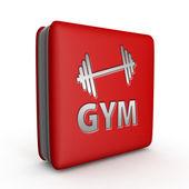 Gym  square icon on white background