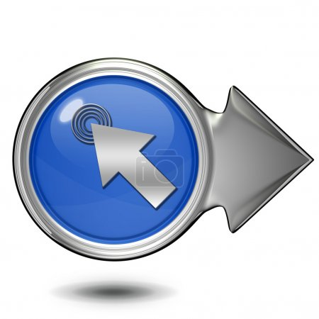 Photo pour Cliquez ici icône circulaire sur fond blanc - image libre de droit