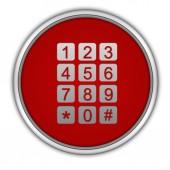 Kulatá ikona volání na bílém pozadí