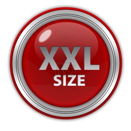 XXL size circular icon on white background