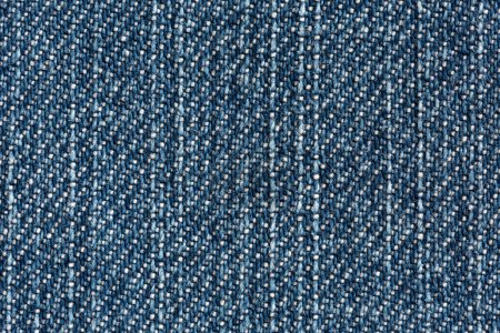Blue Denim Texture close up vertical Direction of Threads