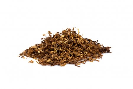 Heap of dry Pipe Tobacco on white