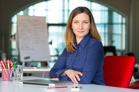 Sophisticated Business Lady in modern Digital Office Interior