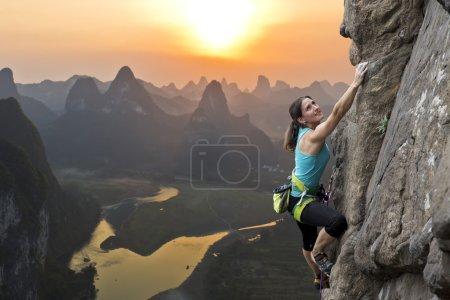 Rock climbing in China