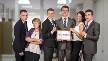 Winning corporate business team