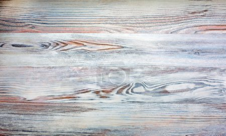 Photo for Background image of red grey orange high textured wooden desk birch oak unusual - Royalty Free Image
