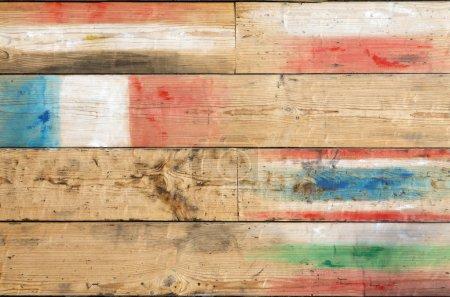 International conceptual wooden background