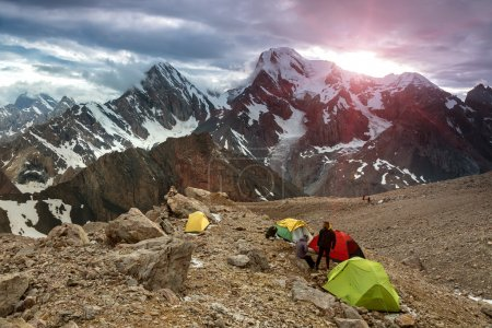 High Altitude Camp Changing Weather