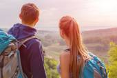 Young People Enjoying Nature View