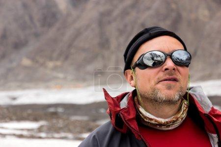 Portrait of Middle Age Alpine Climber