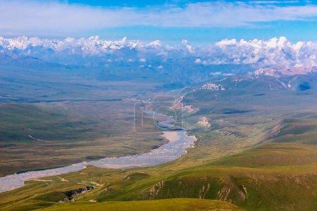 Luftaufnahme der zentralasiatischen Landschaft
