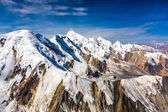 Aerial View of Central Asia Mountain Landscape