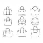 Purses set Hand drawn vector handbags
