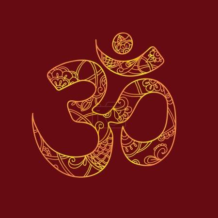 Ohm. Om Aum Symbol.