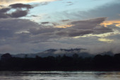 Mekong River on sunset in Thailand