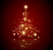Lesklý vánoční strom