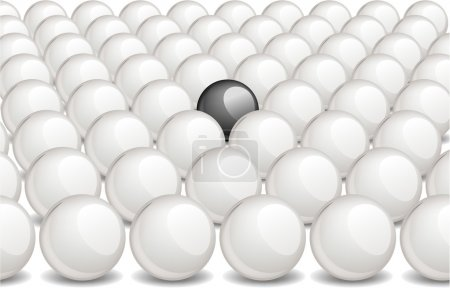 Black ball within white ones