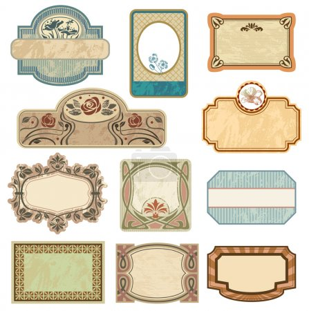 Ornate vintage labels.