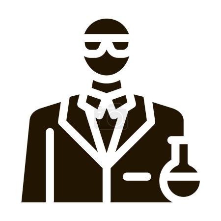 Photo pour Profession de chimiste glyphe icône vecteur. profession de chimiste signe. illustration de symbole isolé - image libre de droit