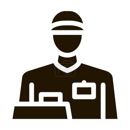 Photo pour Caissier profession glyphe icône vecteur. Caissier profession signe. illustration de symbole isolé - image libre de droit