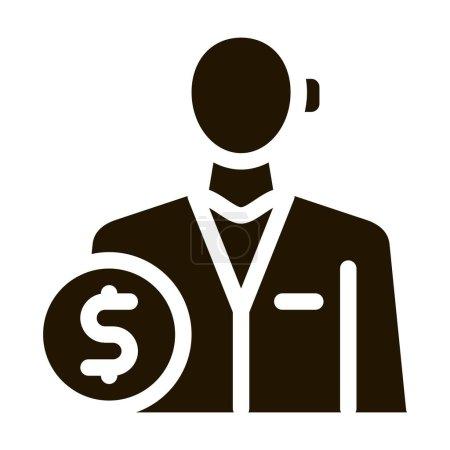 Photo pour Profession comptable glyphe icône vecteur. profession de comptable signe. illustration de symbole isolé - image libre de droit