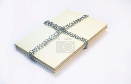 White book with chains
