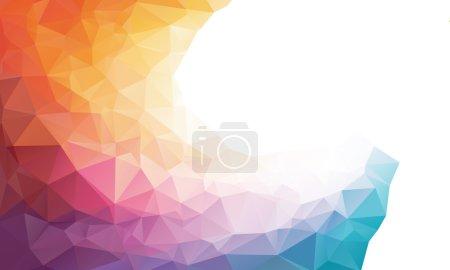 Foto de Colorido fondo o marco de polígono arco iris. Colores del arco iris - Imagen libre de derechos