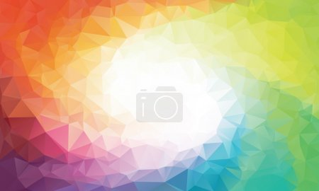 Illustration for Colorful rainbow polygon background or vector frame. Rainbow colors - Royalty Free Image