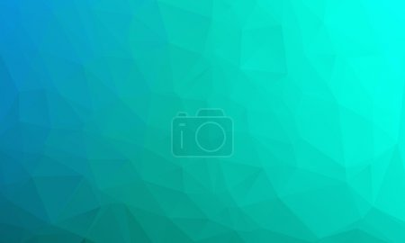 Illustration for Vector abstract bright blue geometric background, consists of triangles. Polygonal abstract aqua background. Vector illustration - Royalty Free Image