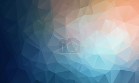 Vector Geometrical polygon abstract purple background blue to peach color