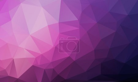 Illustration for Vector Geometrical polygon abstract purple background. Vector illustration - Royalty Free Image