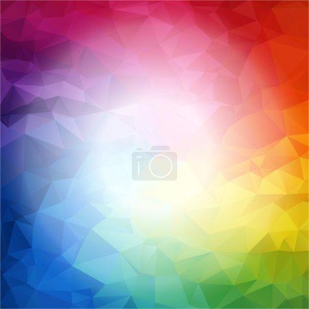 Square Colorful rainbow polygon background or vector frame