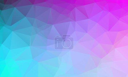 Illustration pour Fond polygonal naturel abstrait. Couleurs de printemps lisses bleu à violet. Illustration vectorielle - image libre de droit