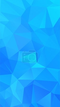 Illustration for Shades of cyan abstract polygonal geometric background -- low poly. Vector illustration - Royalty Free Image
