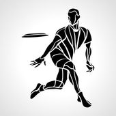 Sportsman throwing ultimate frisbee Vector illustration