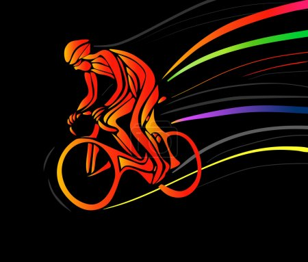 Cyclist in a bike race. Vector illustration