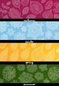 Vier Jahreszeiten horizontale Banner