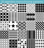 25 seamless monochrome pattern Vector seamless pattern Endless texture can be used for printing onto fabric paper or scrap booking wallpaper pattern fills web page background surface texture