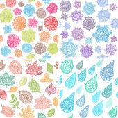 Four Seasons Seamless Pattern