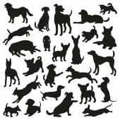 Set of dogs silhouette Collection of 25 vector silhouette Beautiful vector design